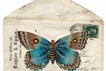 Old Letters, envelopes, stamps