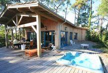 Maison en bois avec porche