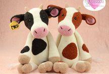 krowy, byki, kozy, .... - szydełko