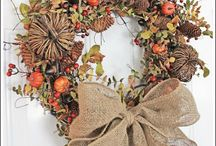 Autumn wreaths! Beautiful :)