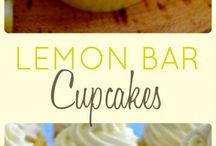 Lemon bar cup cakes
