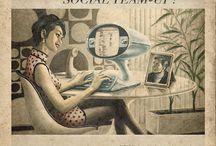 Pseudo-vintage ads
