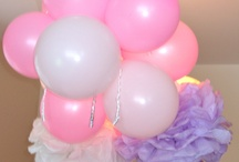 Balloon Cascade and Other Decor / dressupandplayparties.com  Our decor choices and ideas! / by Cindy