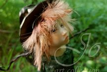 Forest Fantasy Creatures / OOAK art dolls made out of polymer clay