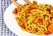 Pates / Nouilles chinoises aux légumes