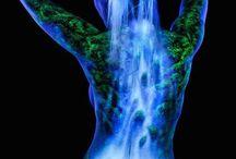 art na těle - fluorescent