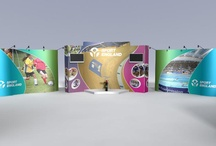 ISOframe flexible stands / A collection of ISOframe Wave display or exhibition stands for clients