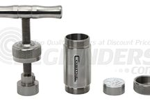 Pollen Presses / Press pollen from your 4 part grinder into a concentrate with these tools.