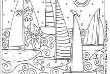 Dibujos / Dibujos de adultos para colorear, mandalas, flores, doodles...