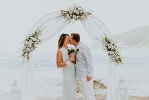 Wedding by the sea | Γάμος στην παραλία / Μια ρομαντική γαμήλια τελετή στην παραλια