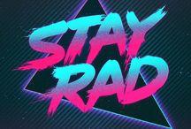 80s typography
