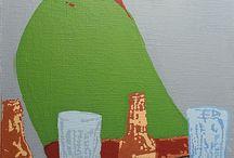 TRAYECTO NARZISO / mis pinturas en la exposición con Fernando Ruiz Millán, llamada TRAYECTO NARZISO