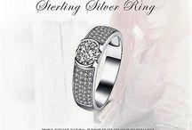 Elegant Silber Ring Echt 925er Sterling Silber+Zirkonia
