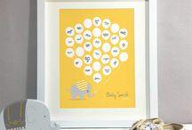 Yellow & Grey Baby Shower