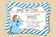 Invitaciones de My Little Pony