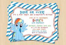 Invitaciones de My Little Pony