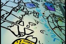 El Cielo en Tus Manos  / Mural colectivo coloreado y compuesto por los nombres, ciudades y palabras elegidas por los visitantes del Museo, tanto física como virtualmente a través de Facebook y Twitter