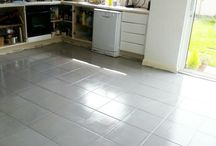 Painted tiled floors