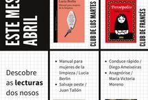 CLUBS DE LECTURA / Para coñecer mes a mes o que están a ler os compoñentes dos nosos clubes de lectura e poderlles seguir a pista.