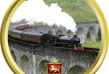 Harry Potter themed Gifts / Our Tin of Stewart's Luxury Scottish Fudge features the famous Glenfinnan Viaduct cocrossed by Harry Potter  on his journey to #Hogwarts
