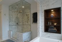 Bathrooms by Construct Associates / Bathrooms, especially master bathrooms, should comprise the utmost in luxury, practicality, current technology, and innovative design. We are well versed in the many uses of stone, glass, tile, and unusual building products as well as the myriad plumbing and lighting products available.