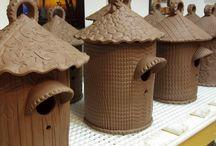 Keramikk hus/slott