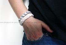 Armbänder + Stoffdruck