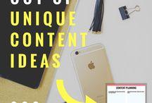Ideas/tips