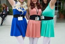 Powerpuff girls cosplay and costumes / People dress like the Powerpuff girls