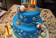 beach party cake ideas