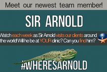 #wheresarnold / Watch each week as Sir Arnold visits our clients around the world! Will he be at YOUR clinic? Can you find him?