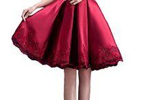 vestido rojo razo fiesta