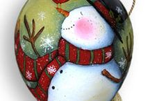 Christmas ..... Ornaments, Tags, Cards / Fun painting and DIY ideas. / by Tammy Moser Kubat