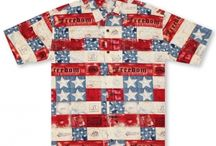 Patriotic Hawaiian Shirts / Show your spirit and good taste with these beautiful high quality patriotic shirts!