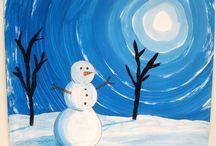 winter art night