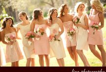 Pink Bridesmaids Dresses / The sweetest pink bridesmaid dresses for your gals!  / by Courtney Hill