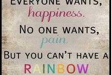 Rainbow quote / Without rain