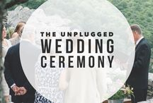 the unplugged wedding inspiration / Inspiration for an unplugged wedding