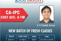 Cost Accounting & Financial MGT / Fresh Classes Starting from tomorrow by CA NAMIT ARORA