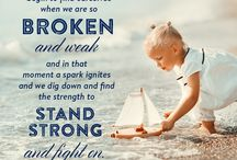 Words we live by / Sometimes we are broken