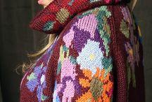 вышивка в вязании
