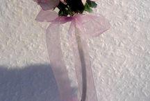 Rózsafák / Asztaldísz rózsákból.