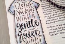 - Bible journaling -