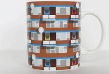 Oscar Francis Pattern Architecture Mugs