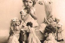 Vintage images of young doll owners / Beautiful dolls in context.  / by Wendy Sue Wilkinson
