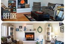 Rooms Restyled...Before and After / Room restyles by Crazy Chic Design.