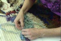 Pyssel- Mattor / DIY ruggs. Olika tipps på att göra mattor.