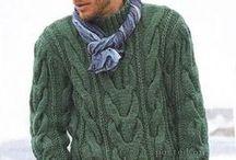 мужские свитера спицами