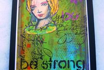 Dina Wakley Stamps and Paints