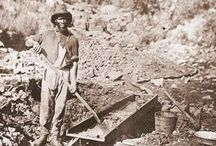 GOLD MINING IN AMERICA / In the United States of America, a major rush of  gold   mining  took place with the discovery of  gold  at the Reed farm in North Carolina, in 1799. This was only the beginning of the history of this metal discovery and mining in America. Later on, many states in America, like Alaska, Alabama, Texas, Virginia and many more, were found to be blessed with reservoirs of this metal.